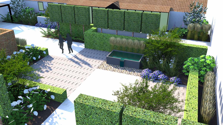 Lush Garden Design 3D render