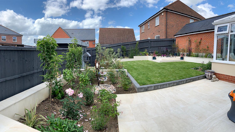 Child-friendly garden in Derby designed by Lush Garden Design