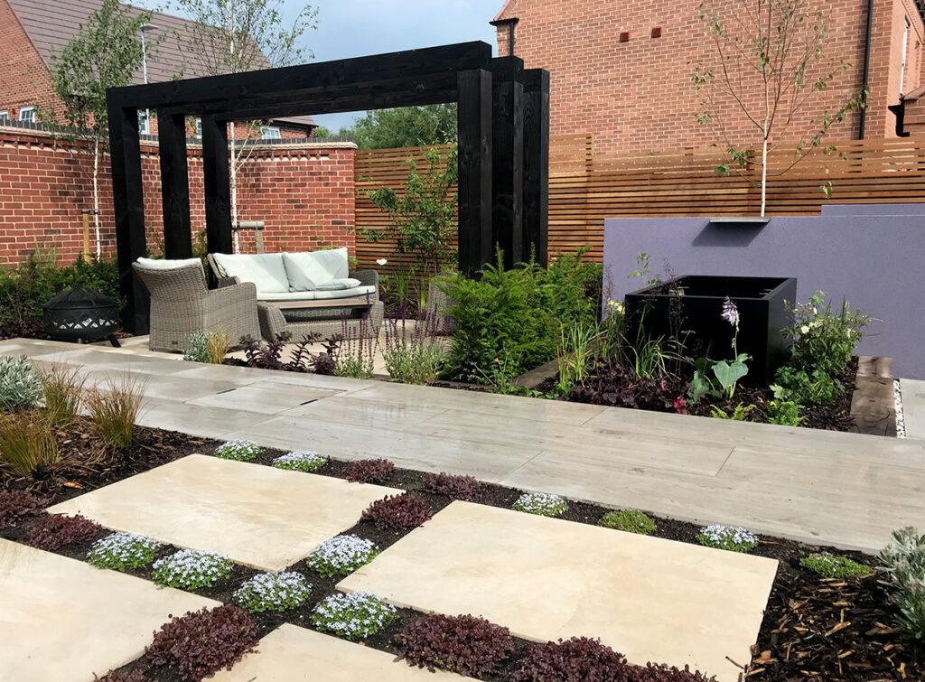 layered textural garden in Ashby de la Zouch, designed by Lush Garden Design