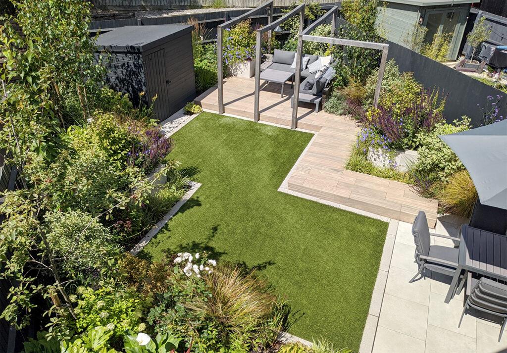 new build garden by lush garden design