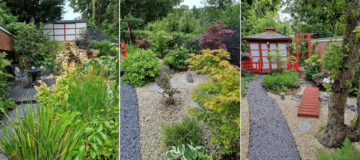 Japanese garden West Wycombe Lush Garden Design National Garden Scheme